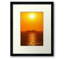 Brittany Ferries Normandie Sunrise Framed Print