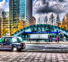Taxi at Canary Wharf by DavidHornchurch