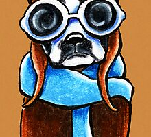 Boston Terrier Aviator by offleashart