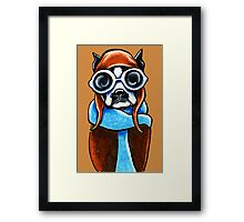 Boston Terrier Aviator Framed Print