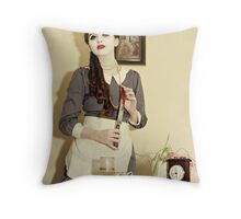 Undead Housewife. Throw Pillow