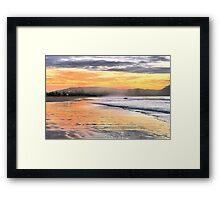 Sunrise Surfer Framed Print