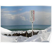 Where snow and ocean meet Poster
