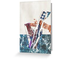 Toothbrushes and paste - 2 Greeting Card
