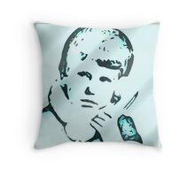 On the phone Throw Pillow