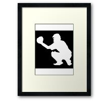 Baseball Catcher Framed Print