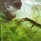 Koumpiodontosuchus aprosdokiti & Neovenator by A V S TURNER