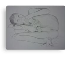 Knee Bends Canvas Print