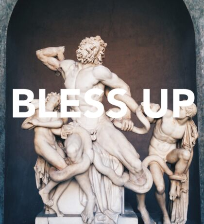Bless Up -- Laocoon and His Sons Sticker