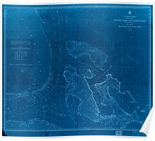 Civil War Maps 0070 Atlantic coast of the United States in four sheets sheet no IV Mosquito Inlet to Key West Inverted Poster