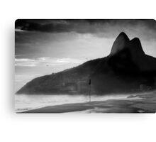 Rio de Janeiro in Black and White Canvas Print