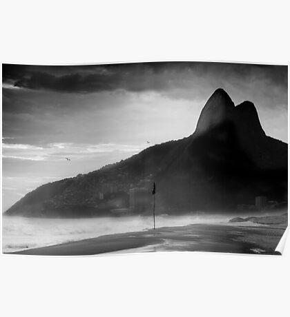 Rio de Janeiro in Black and White Poster