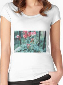 Flora 03 Women's Fitted Scoop T-Shirt