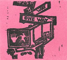 black and pink street signs by purplestgirl