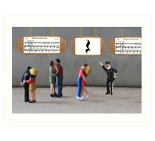 The dancing was uninterrupted until the policeman yelled, 'Stop—you're under a rest'! Art Print