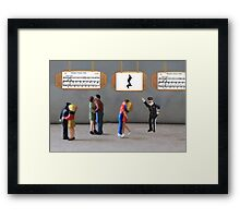The dancing was uninterrupted until the policeman yelled, 'Stop—you're under a rest'! Framed Print