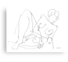 Nude Woman Drawing 5 Canvas Print