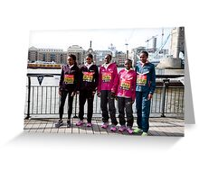 london Marathon  Elite Women Greeting Card