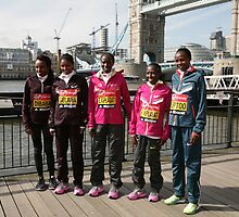 london Marathon  Elite Women by Keith Larby