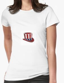 Patriotic Hat Womens Fitted T-Shirt