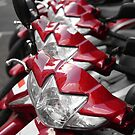 Red motorbikes by buttonpresser