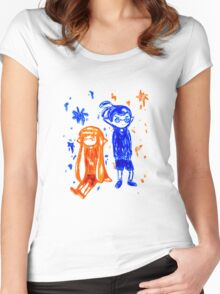 Ink Sketch Women's Fitted Scoop T-Shirt