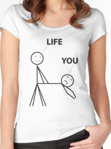 Life sometimes Women's Fitted Scoop T-Shirt