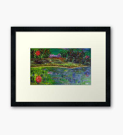 Landscape in Green Framed Print