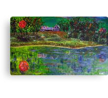Landscape in Green Canvas Print
