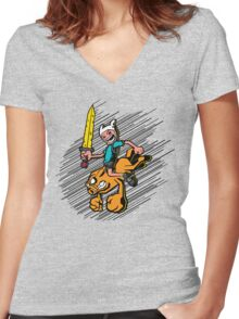 Time Bomb! Women's Fitted V-Neck T-Shirt