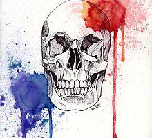 Watercolor Skull by insanaty