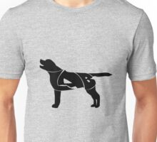 Labrador Golden Retriever Silhuette Unisex T-Shirt