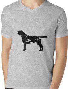 Labrador Golden Retriever Silhuette Mens V-Neck T-Shirt