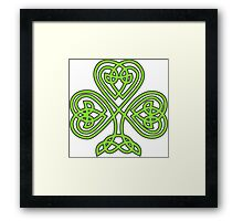 Celtic Shamrock Framed Print