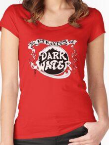 Pirates of Dark Water - b&w logo Women's Fitted Scoop T-Shirt