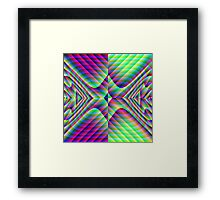 Mirrored Arrowheads Framed Print