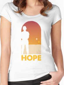 Hope - Tatooine's New Hope! Women's Fitted Scoop T-Shirt