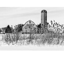 Winter Farm Scene Photographic Print