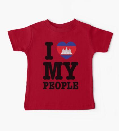 I Love My Khmer People  Baby Tee