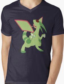 Flygon Minimalist Mens V-Neck T-Shirt