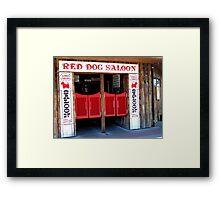 THE RED DOG SALOON JUNEAU ALASKA Framed Print