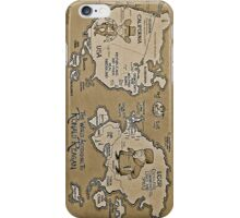 Politics World Map iPhone Case/Skin