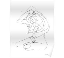 Nude Woman Drawing 8 Poster