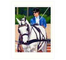 Pleasure Driving Quarter Horse Art Print