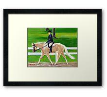 Palomino Horse Hunt Seat Framed Print