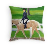 Palomino Horse Hunt Seat Throw Pillow