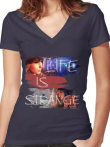 Strange-3 Women's Fitted V-Neck T-Shirt