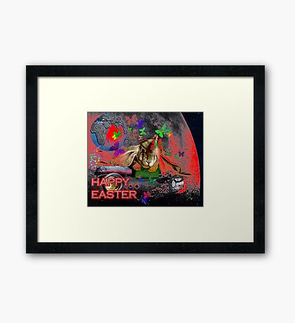 Happy Easter. Framed Print