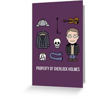 Property of Sherlock Holmes (card) Greeting Card