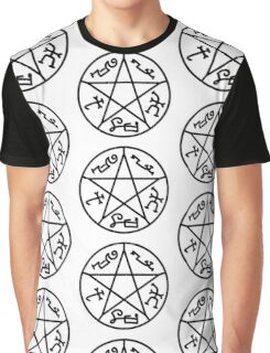 Supernatural devil's trap BLACK Graphic T-Shirt